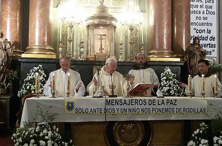 Misa en la Iglesia de San Antón